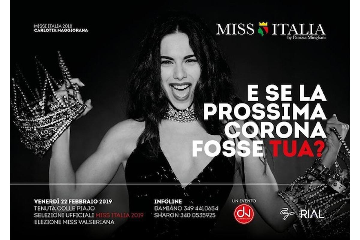 22 febbraio, La Notte delle Miss alla Tenuta Colle Piajo di Nembro (Bg), con Miss Italia (Carlotta Maggiorana) e l'elezione di Miss Valseriana