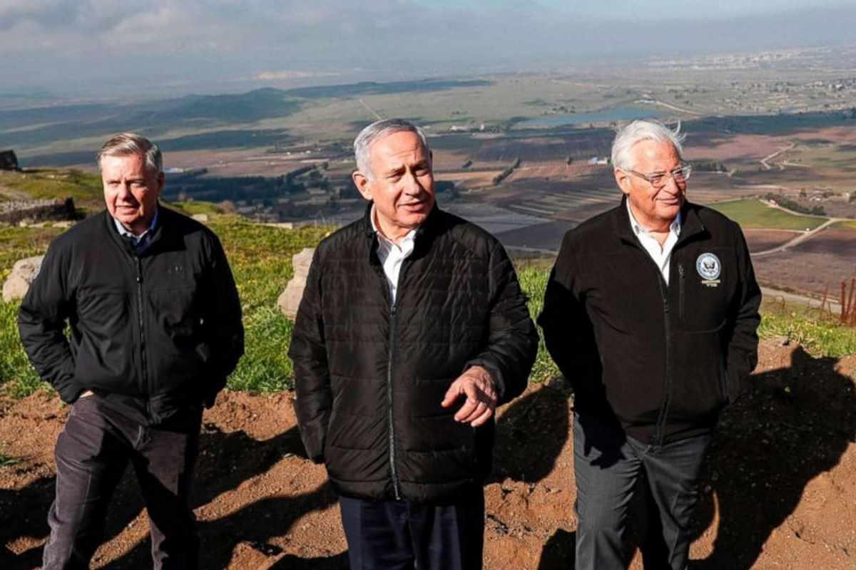 Per Trump gli Usa devono riconoscere la sovranità di Israele sulle alture del Golan