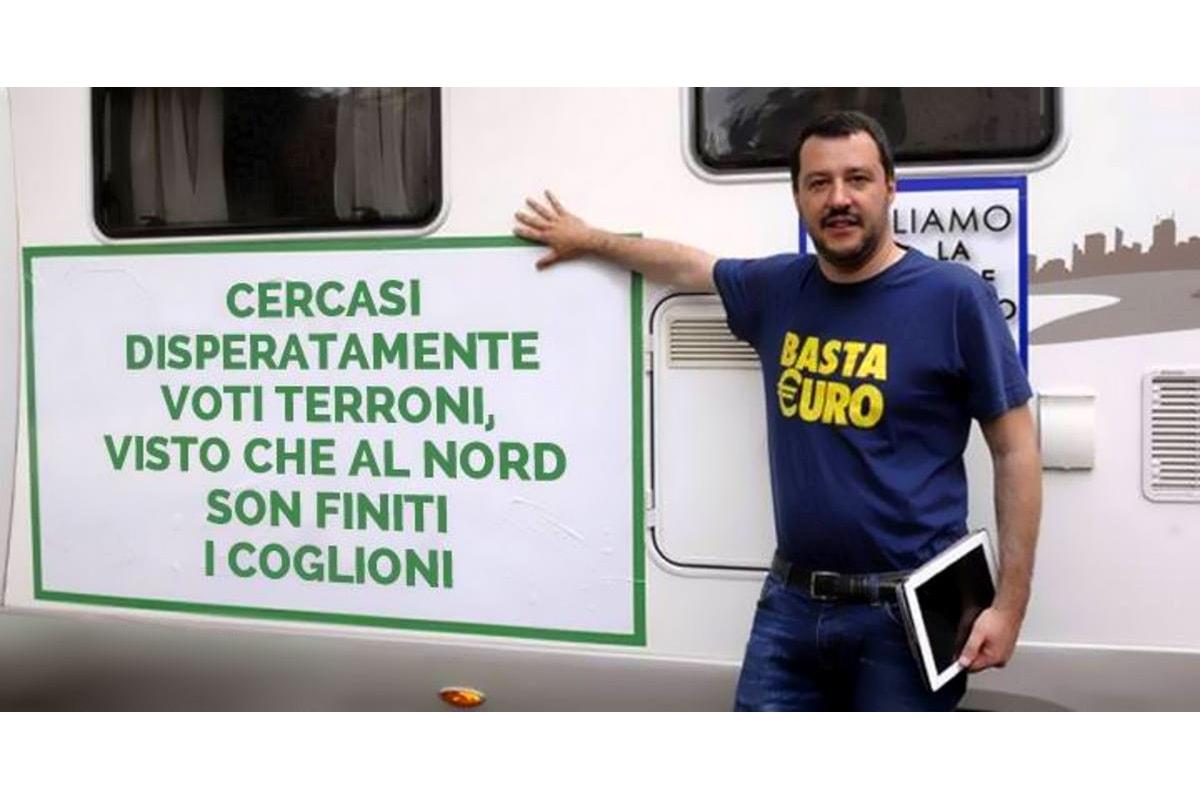 Oggi Salvini ama alla follia gli stessi meridionali che ieri puzzavano peggio dei cani