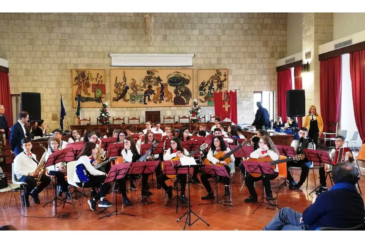 Primo premio al concorso musicale di Tarquinia per l'orchestra della scuola di Petralia Soprana