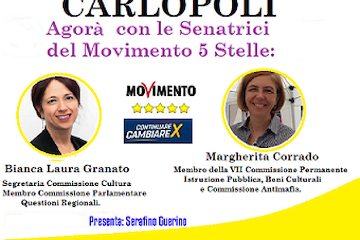 Venerdì 24 Maggio 2019 a Carlopoli le Senatrici 5 Stelle incontrano la Cittadinanza