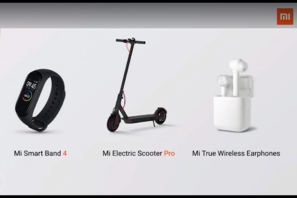 Xiaomi non ha presentato solo il Mi 9T, ma anche la Mi Band 4, il Mi Electric Scooter Pro e le Mi True Wireless