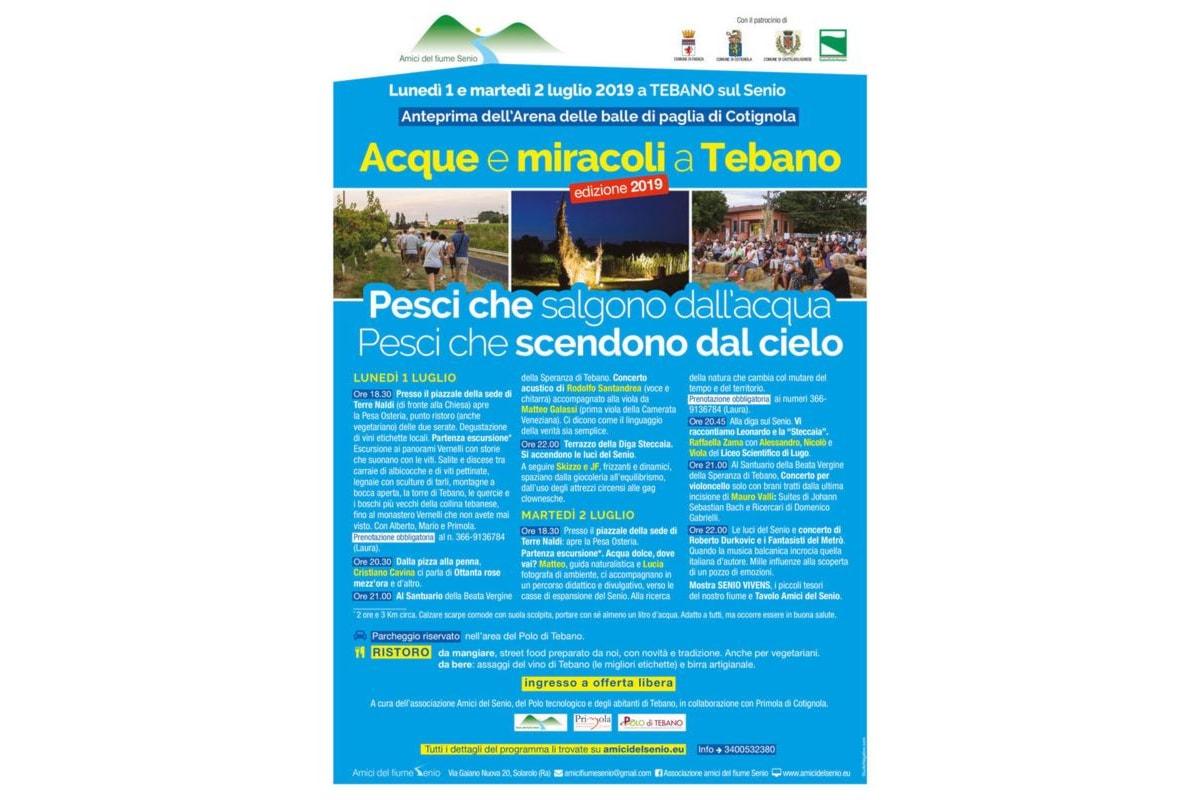 Faenza (Ra): Acque e Miracoli a Tebano, 1 e 2 Luglio 2019