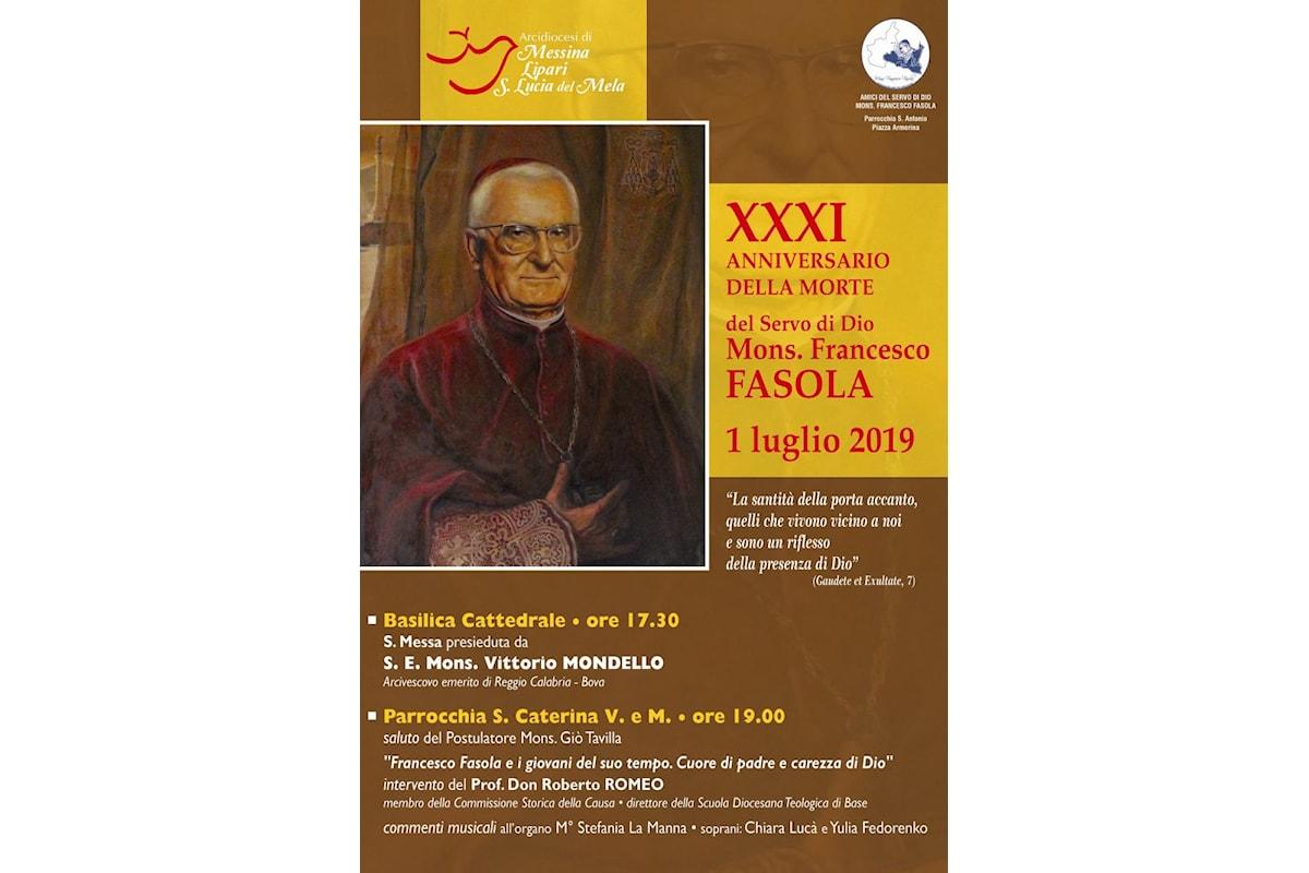 Messina. XXXI anniversario della morte di Mons. Francesco Fasola. Solenne celebrazione in Cattedrale