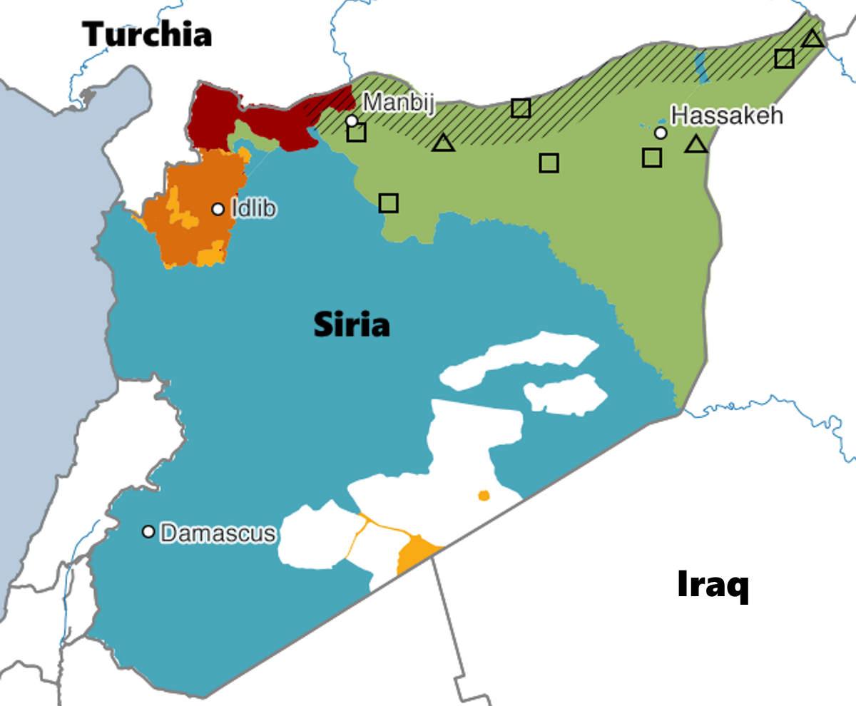 Oramai imminente l'attacco della Turchia ai curdi nel nord della Siria