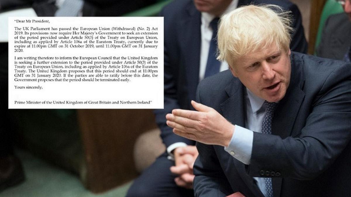 Johnson ha ceduto ed ha inviato a Tusk la richiesta di una nuova data di scadenza per la Brexit, ma...