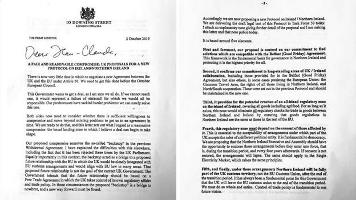 Brexit: la proposta di Johnson per sostituire il backstop
