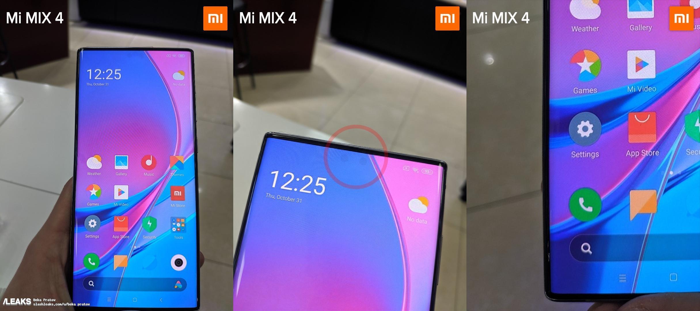 Lo Xiaomi Mi Mix 4 avrà la fotocamera frontale sotto il display? Forse si, forse no!