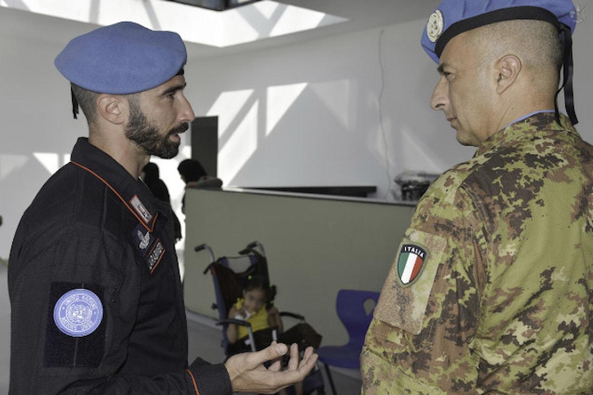 Libano, contingente italiano e Arma dei Carabinieri aiutano i bambini disabili