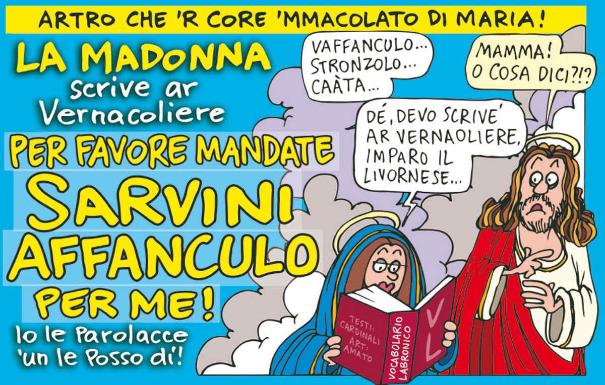 Salvini adesso vuol rubare il posto pure a Padre Livio e riprende i messaggi della Madonna di Medjugorje, ma...