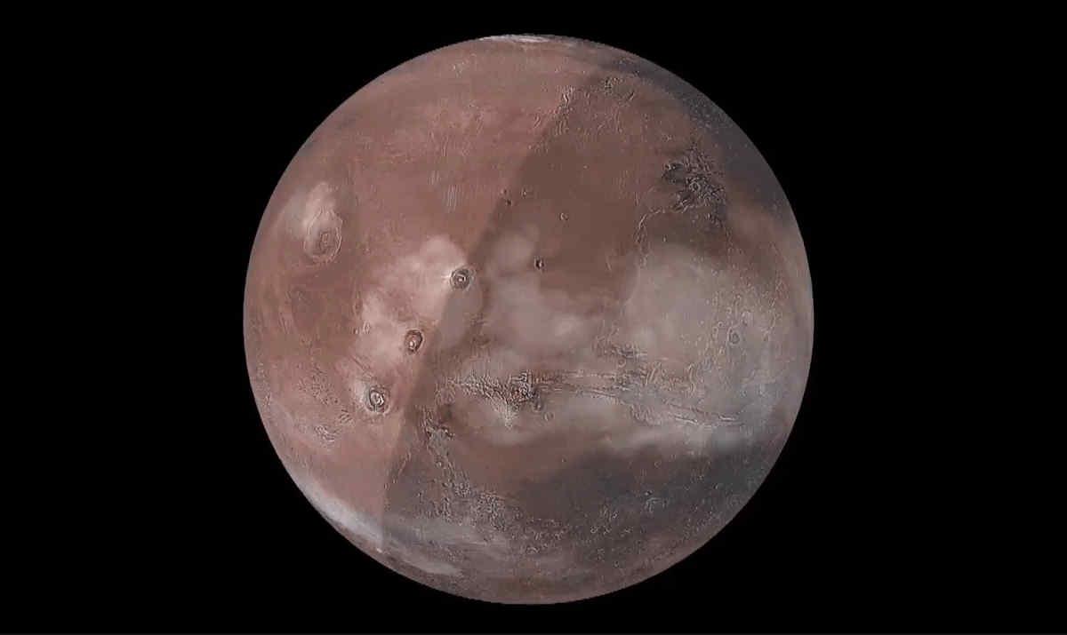 Un super computer ci mostra com'è fatta l'atmosfera di Marte