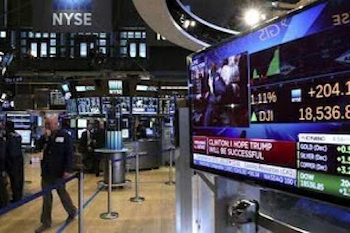 Mercato azionario: se giovedì l'Europa ha chiuso mista, Wall Street continua a volare