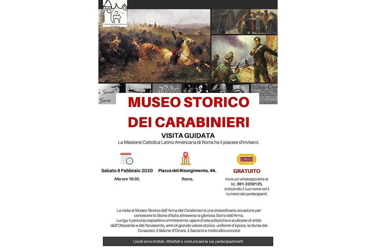 Visita guidata gratuita nel MUSEO STORICO DELL'ARMA DEI CARABINIERI.