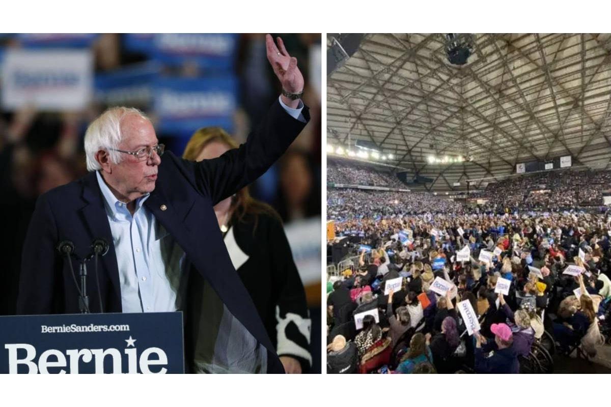 Il compagno Bernie Sanders preferito nei sondaggi a livello nazionale come candidato dem alle presidenziali 2020