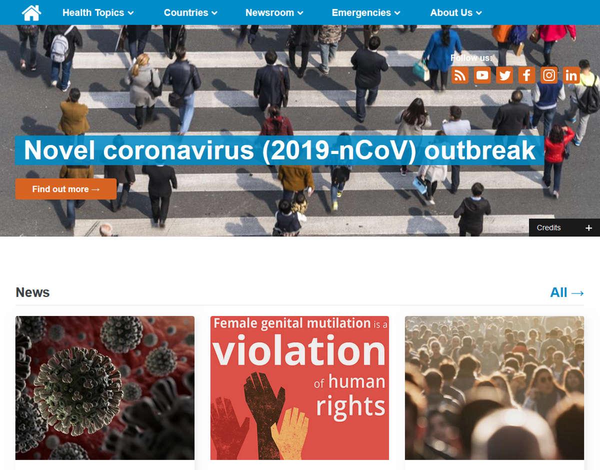 Ecco il sito della WHO (World Health Organization) con tutte le domande e risposte più frequenti sul Coronavirus e i dati aggiornati