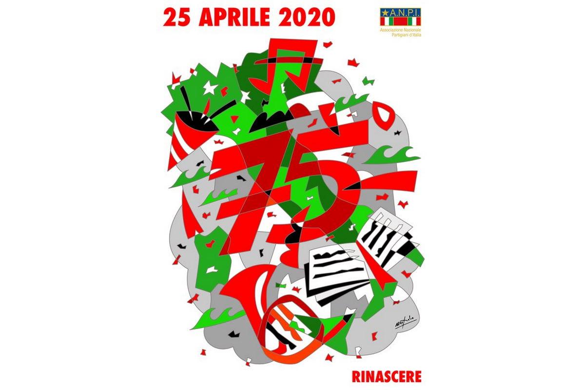 Il 25 aprile, 75° anniversario della Liberazione, tricolori ai balconi intonando Bella Ciao