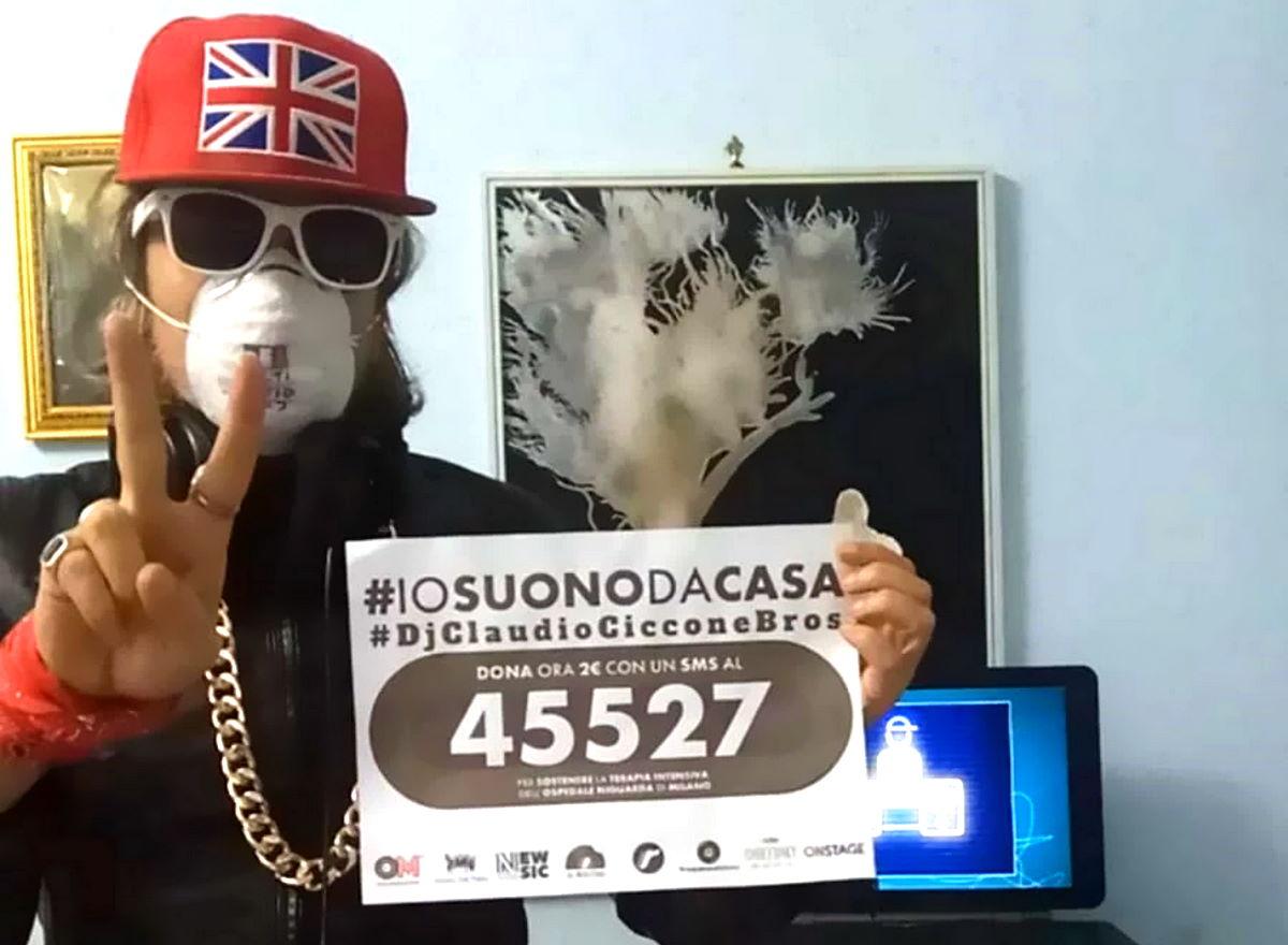 Dj Claudio Ciccone Bros. #iosuonodacasa #perunabuonacausa #donaora