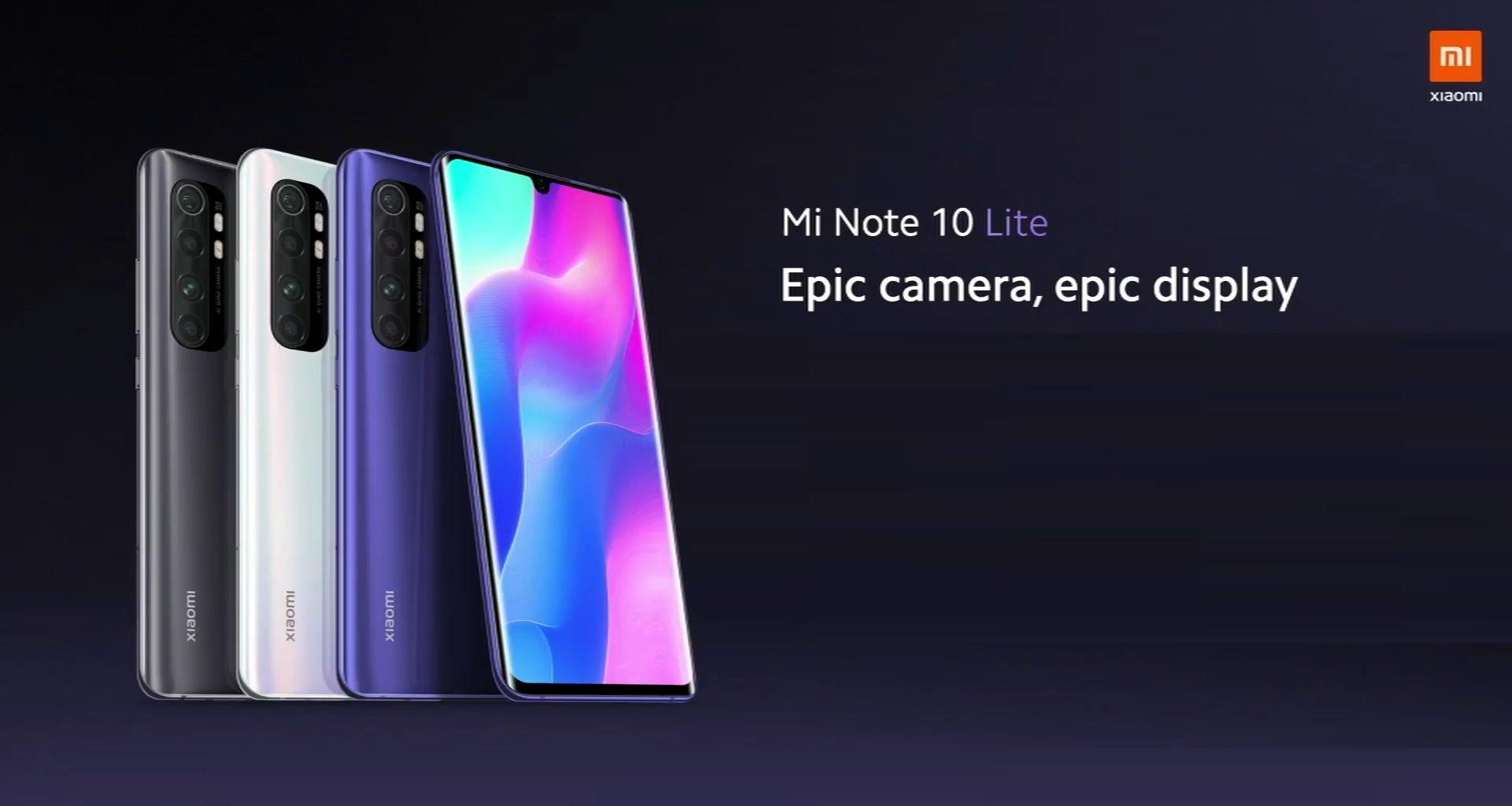 Xiaomi Mi Note 10 Lite è stato presentato ufficialmente: il nuovo re della fascia media