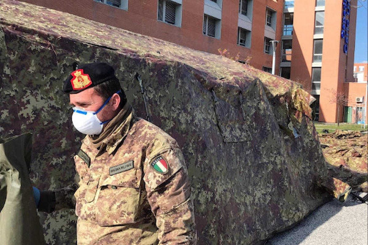 Jesi: Fucilieri del S. Marco allestiscono posto medico avanzato in meno di 72 ore