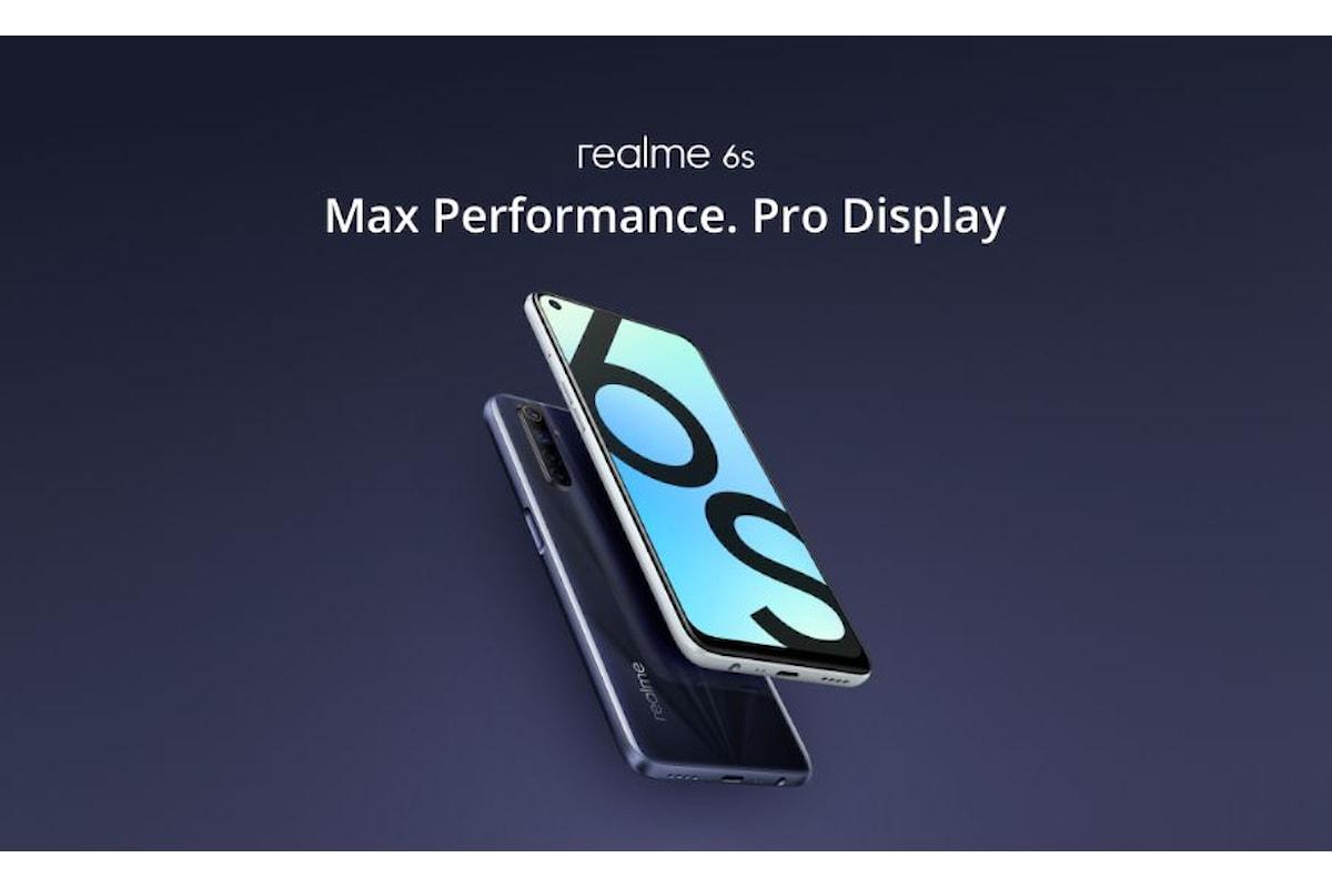 Realme 6s è stato presentato ufficialmente: un ottimo smartphone di fascia medio-bassa
