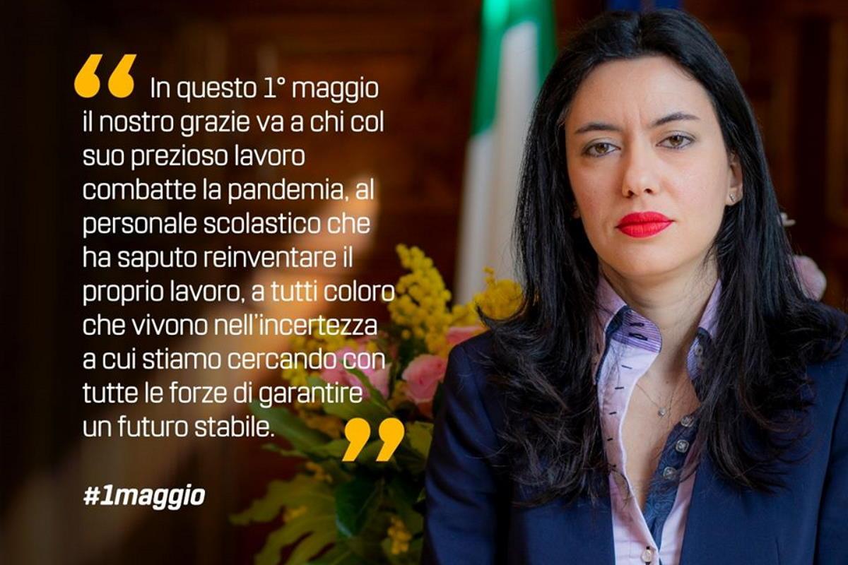 Lucia Azzolina: in questo 1 maggio speciale la musica è il collante che può farci sentire comunità nonostante la distanza fisica