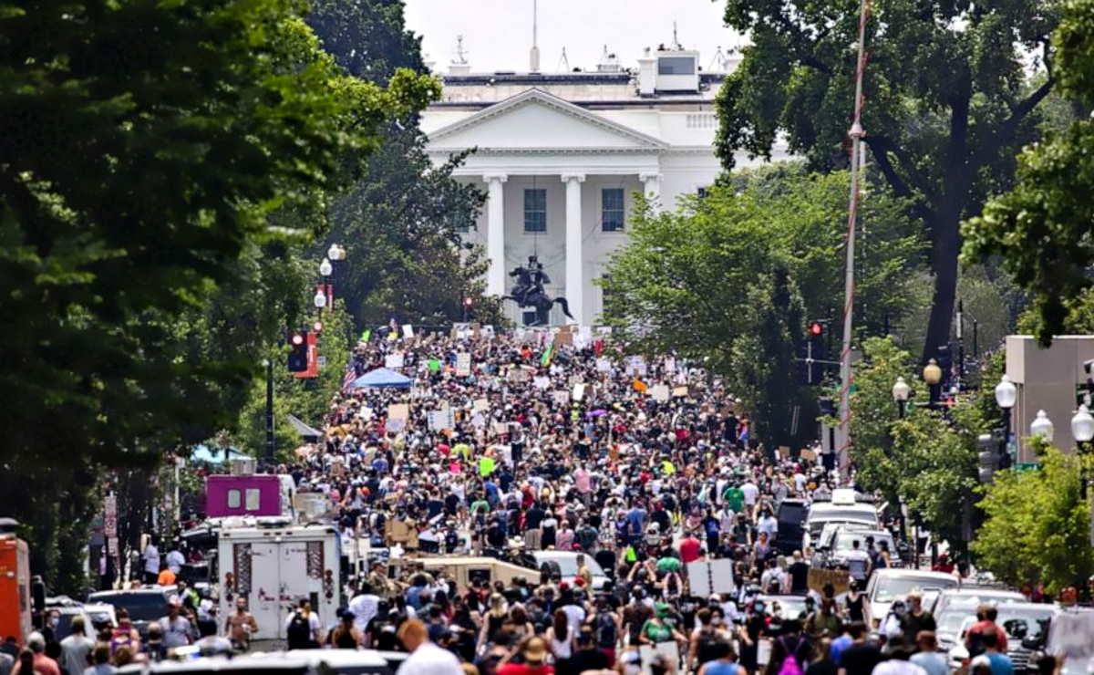 Il mondo manifesta contro razzismo e violenza mentre a Washington la protesta avvolge la Casa Bianca