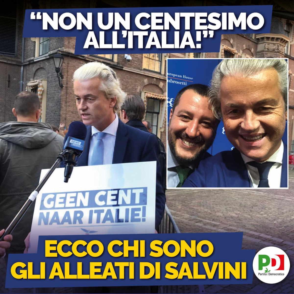 Caro Salvini, prima gli italiani o prima gli olandesi? Facci sapere