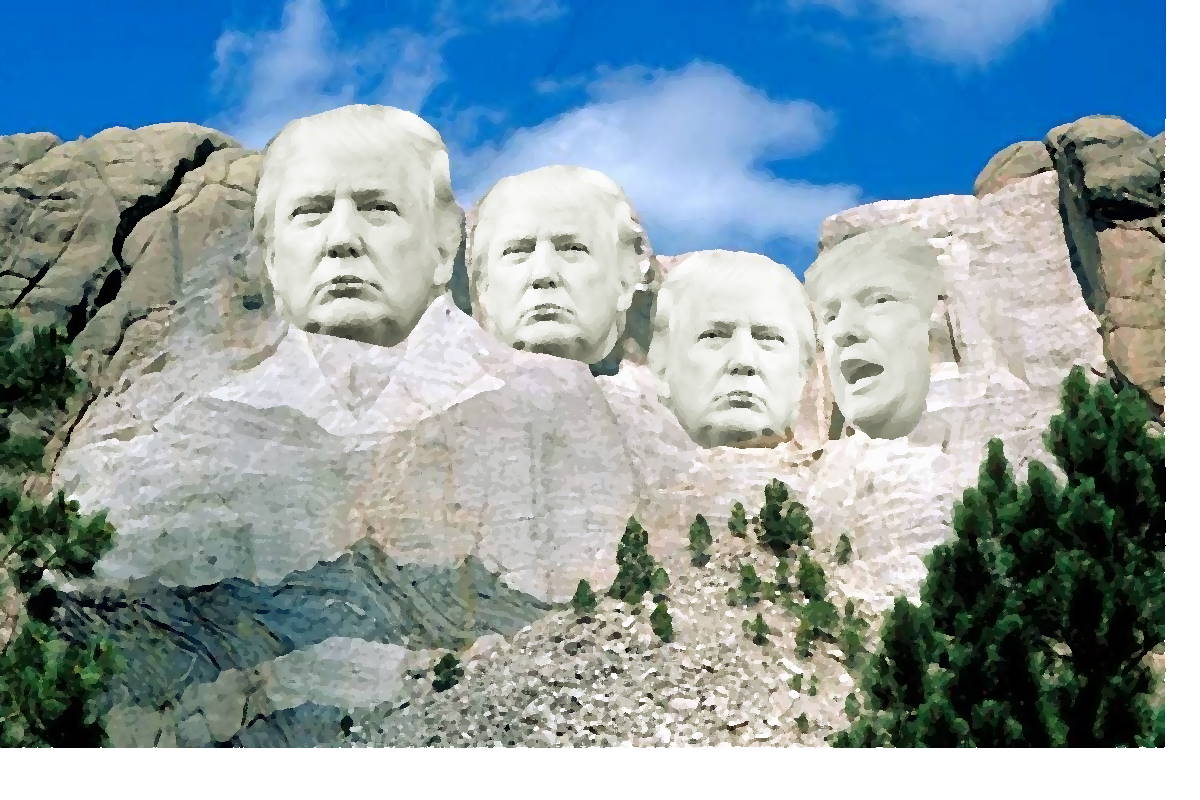 L'incendiario Trump si reca al monte Rushmore per dividere gli americani inventandosi il fascismo di estrema sinistra