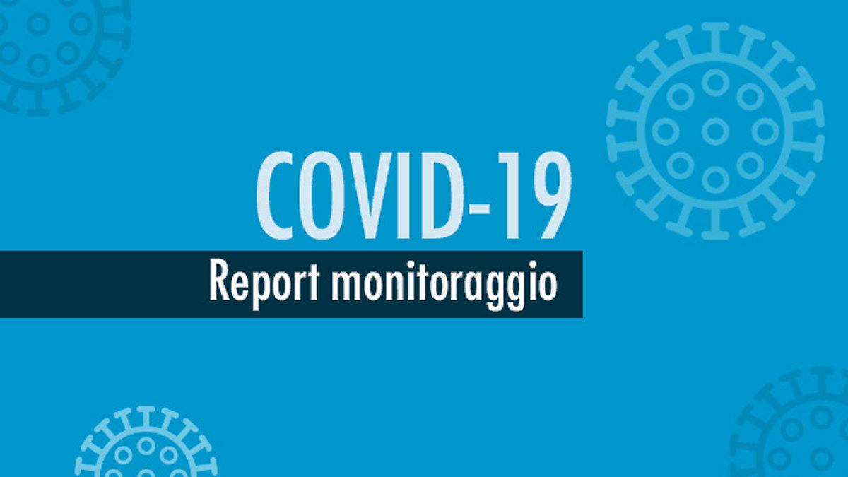 Report monitoraggio Covid dal 27 luglio al 2 agosto