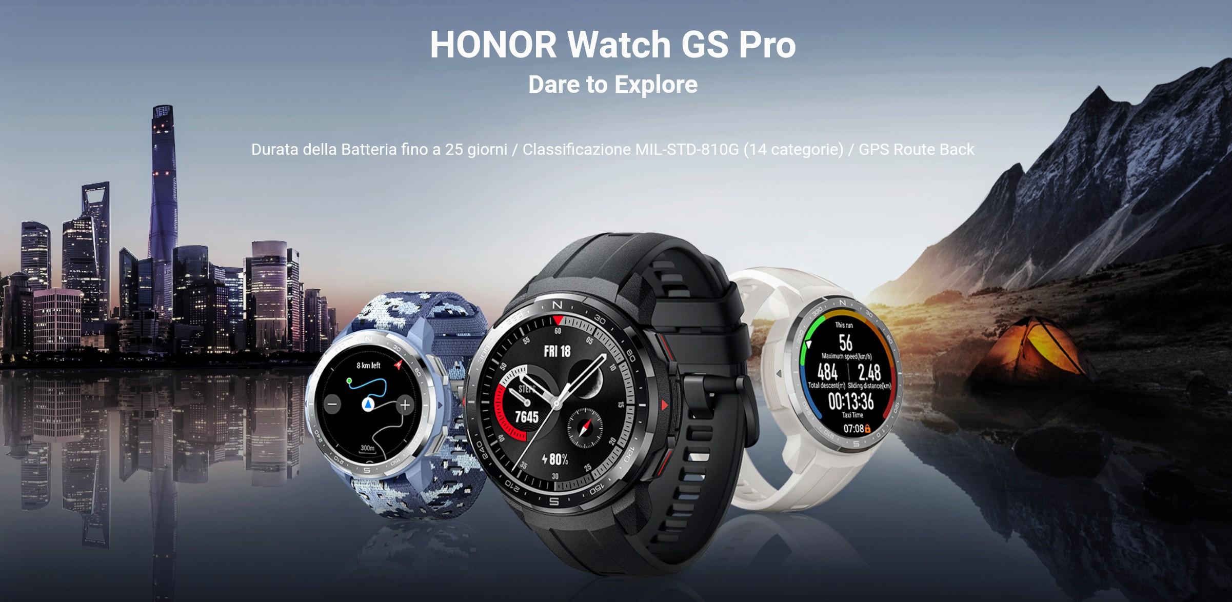 HONOR Watch GS Pro è stato presentato ufficialmente: uno smartwatch rugged interessante