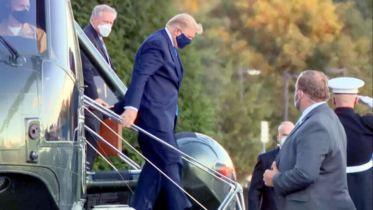 Trump ricoverato in ospedale nel momento cruciale della campagna per la sua rielezione