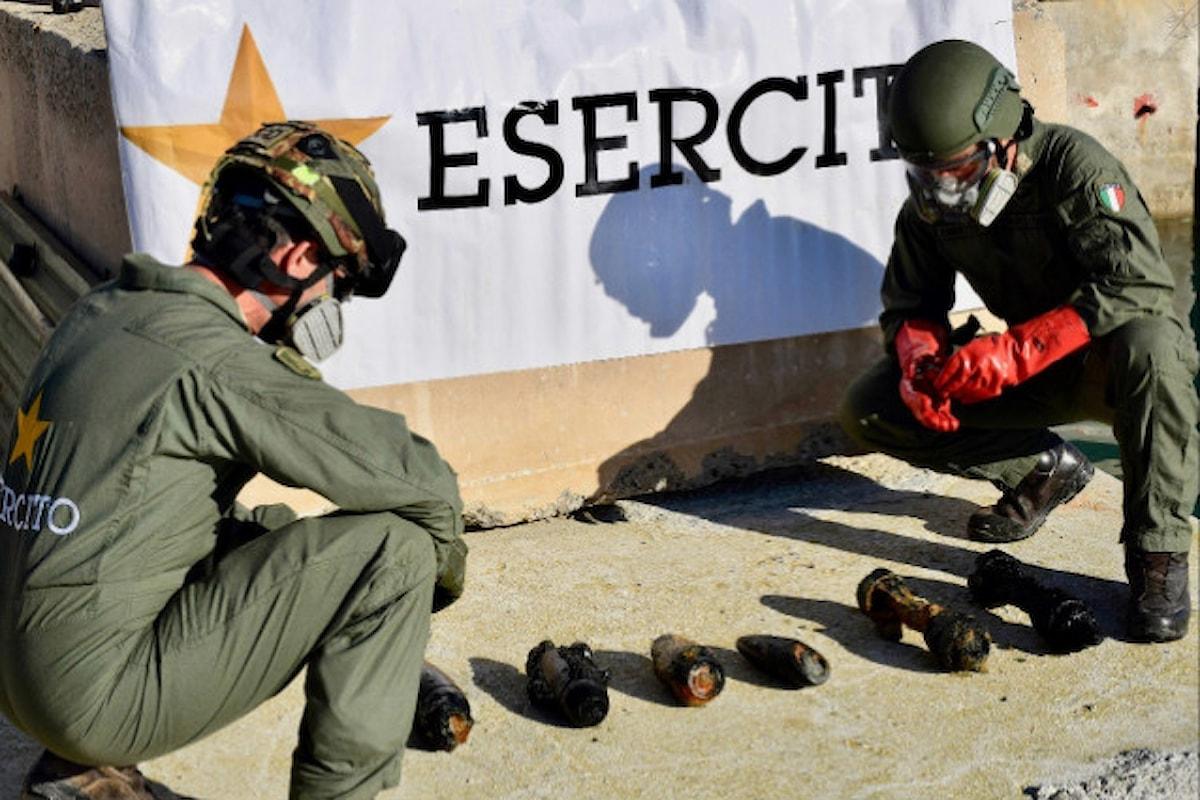 Molfetta: Artificieri dell'11° Reggimento Genio Guastatori Foggia distruggono 9 residuati bellici