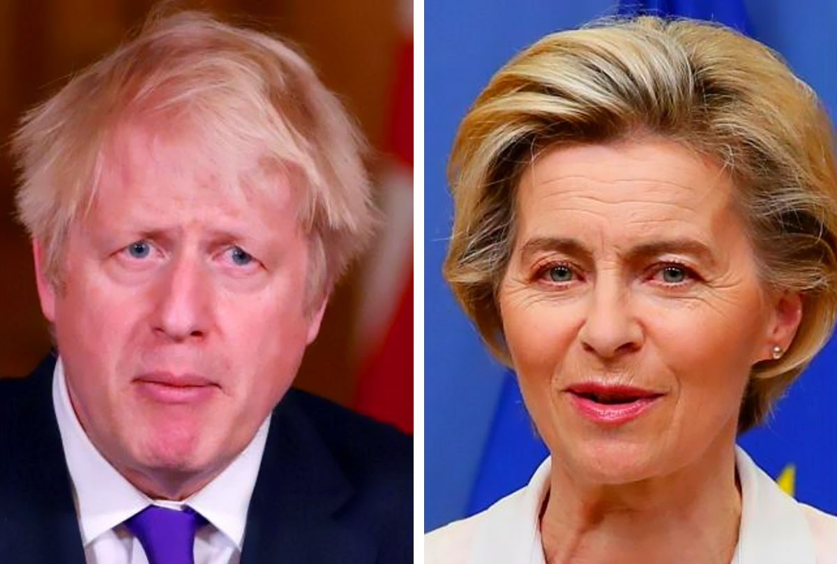 Johnson e von der Leyen faccia a faccia per un ultimo tentativo per arrivare ad un'intesa sugli scambi commerciali tra Uk e Ue da gennaio 2021