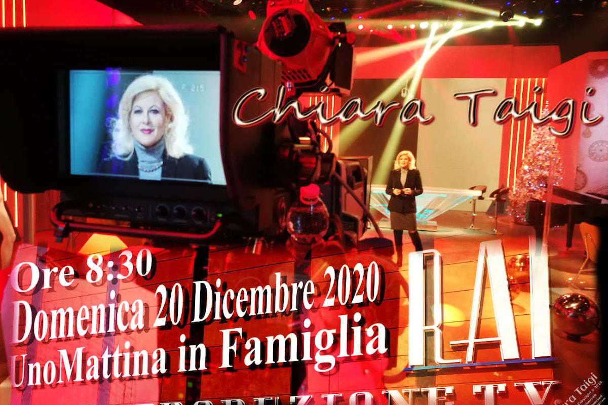 CHIARA TAIGI su Rai 1 a Uno Mattina In Famiglia, domenica 20 dicembre alle ore 9:15