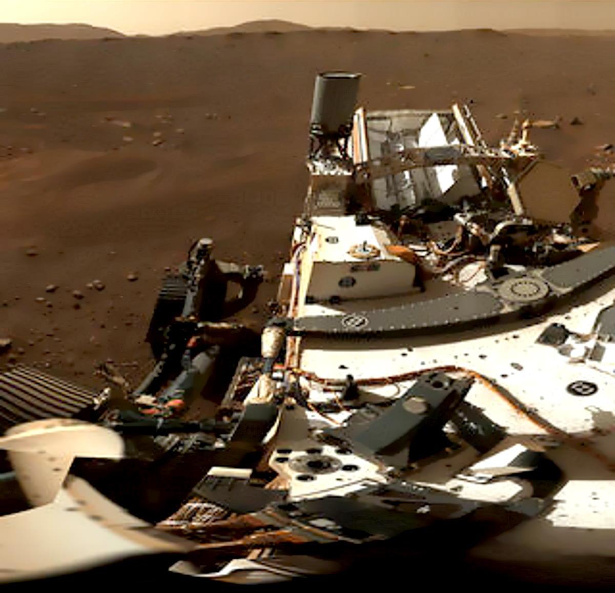 Perseverance ha inviato il primo panorama di Marte a 360°