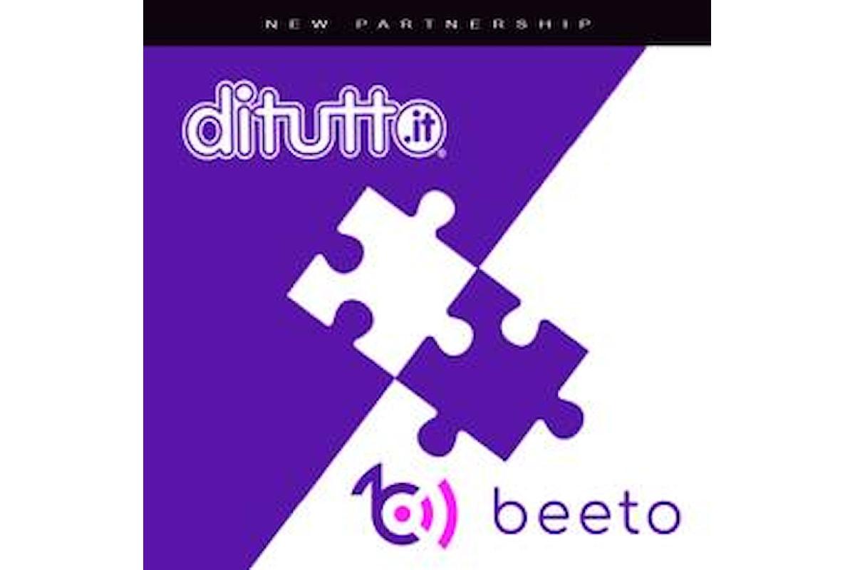 DiTutto: nuova partnership con Beeto
