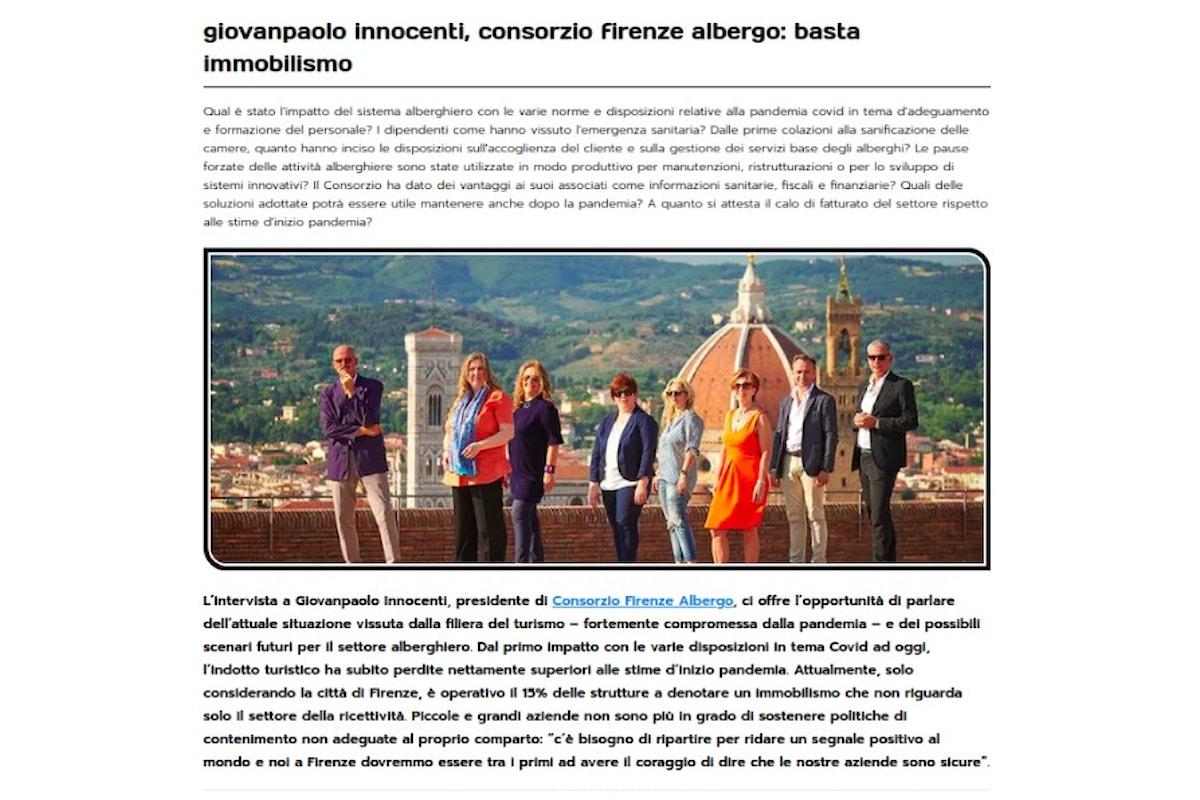 Giovanpaolo Innocenti, Consorzio Firenze Albergo: il Mercato del Turismo è pronto e deve ripartire