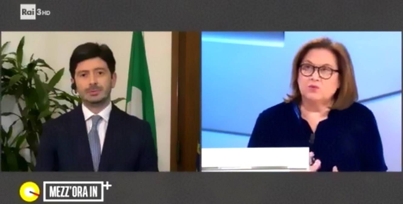 Il ministro Speranza a Mezz'ora in più: Entro l'estate vaccinati tutti gli italiani che lo vorranno