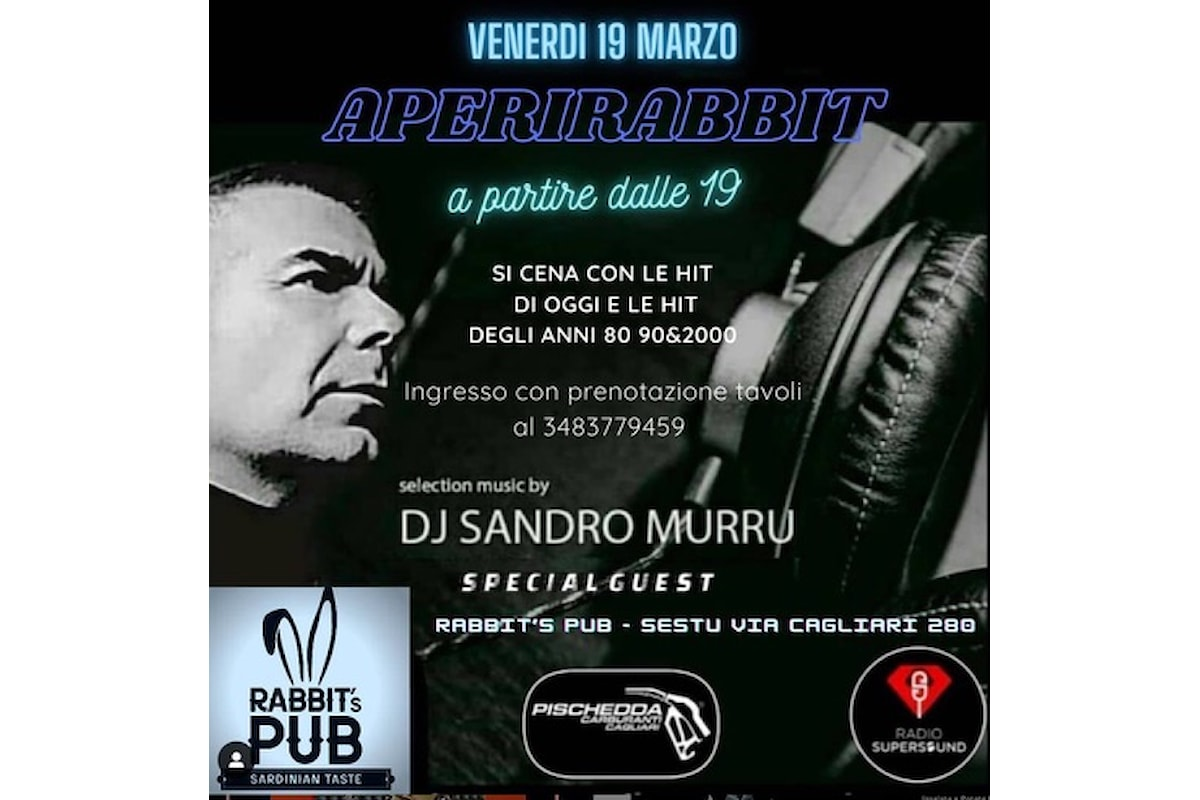 Sandro Murru Kortezman, dj set il 19/3 @ Rabbit - Sestu (Cagliari), tra relax e tanta musica