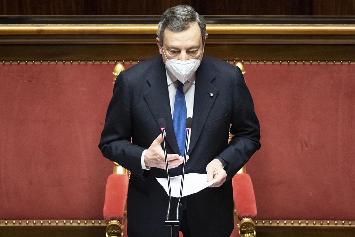 Il messaggio di fiducia di Draghi al Senato prima del Consiglio europeo che si svolgerà dal 25 al 26 marzo