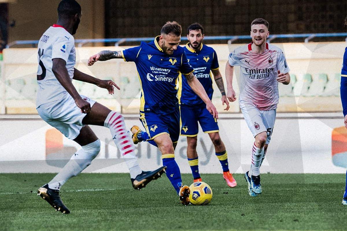 26.esima giornata di Serie A: Il Milan batte in trasferta il Verona 0-2 e consolida il secondo posto