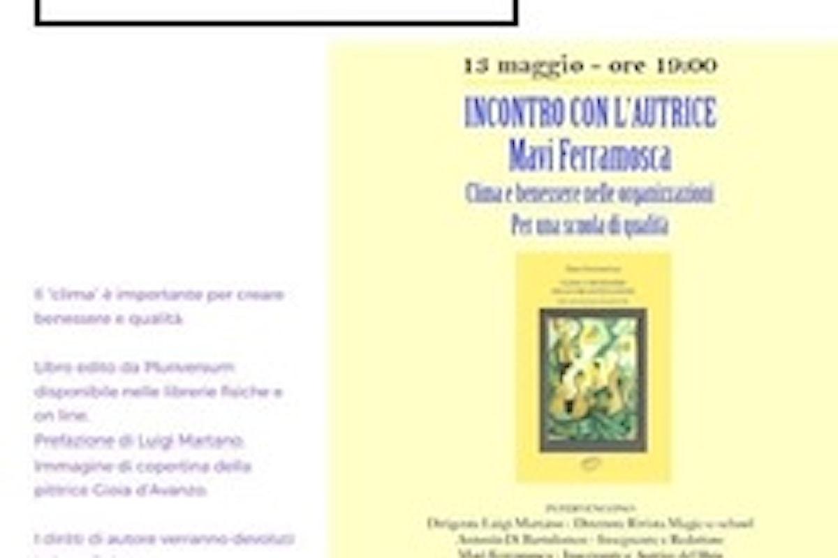 """Incontri d'Autore con Mavi Ferramosca: si parlerà del suo libro """"Clima e Benessere"""""""