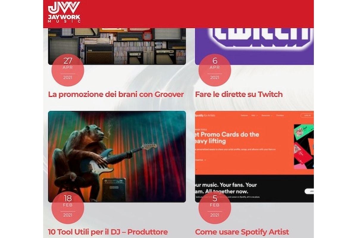 Jaywork Music Group: newsletter, blog… e la musica di Diego Broggio (DB Boulevard)