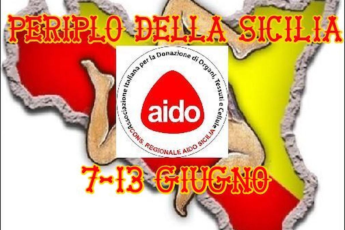 """Milazzo (ME) – Tappa del """"Periplo 2021 Aido Sicilia"""" di Michail Speciale"""
