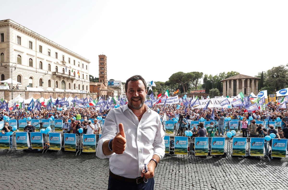 La triste manifestazione leghista di sabato 19 giugno a Roma