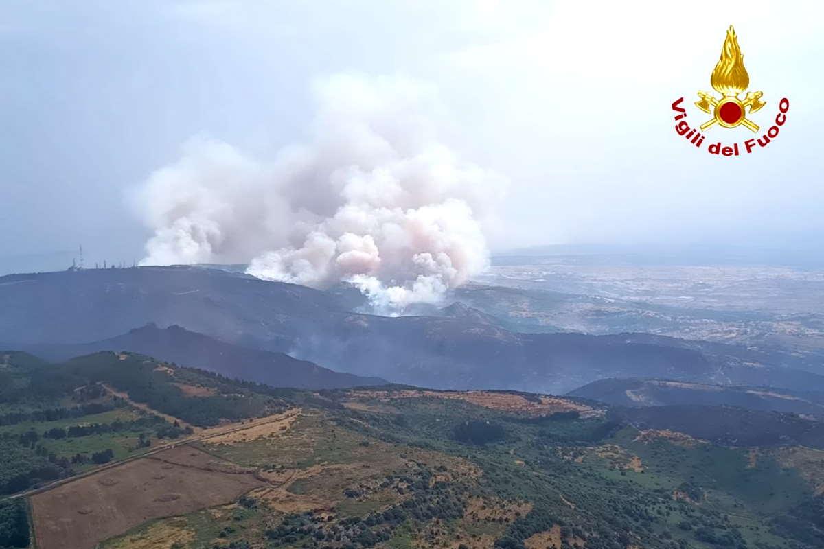 Non sono ancora domati gli incendi in Sardegna con la Regione che dichiara lo stato di calamità