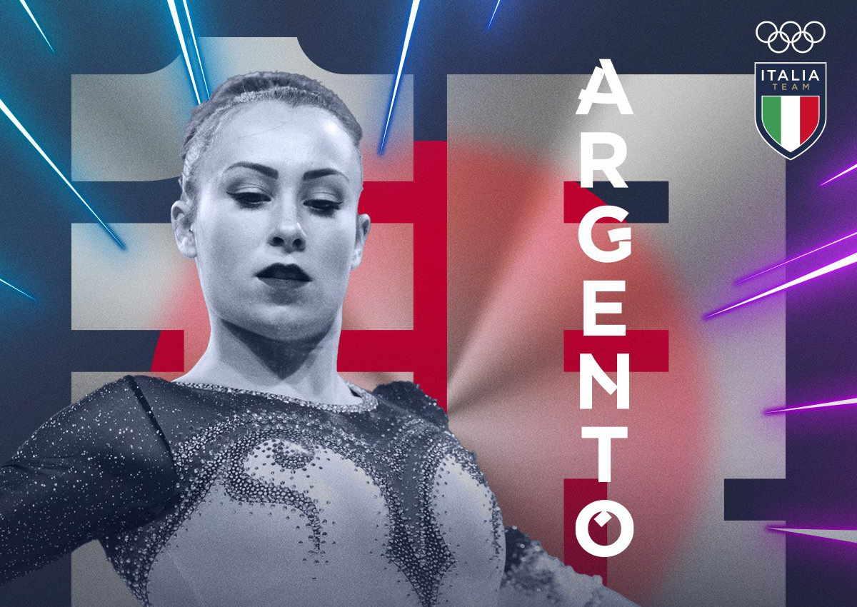 Tokyo 2020, argento nel corpo libero per per la ginnasta Vanessa Ferrari