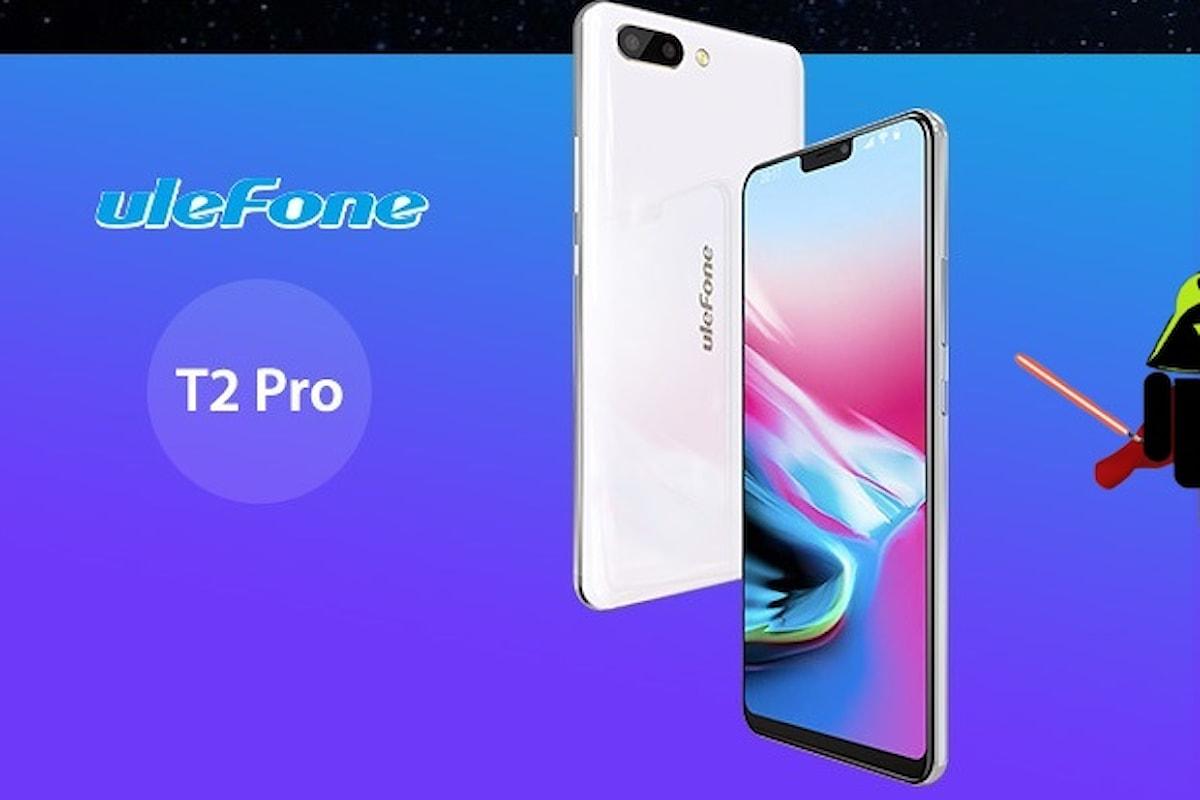Ulefone T2 Pro è il nuovo bellissimo smartphone presentato dall'azienda cinese al MWC 2018