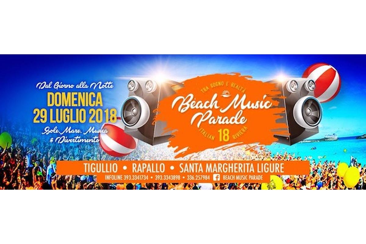 29 luglio '18: Beach Music Parade, la festa collettiva in spiaggia a Rapallo & Santa Margherita Ligure