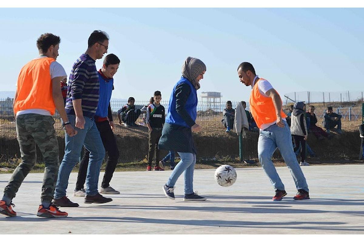 A cura di Sport Against Violence e Un Ponte per... Nel Campo rifugiati di Arbat un torneo di calcio a squadre miste per la coesione, la pace e l'integrazione